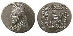 Ancient Coins - KINGS of PARTHIA. Mithradates III. 87-80 BC. AR Drachm. Choice FDC.