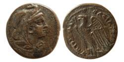 Ancient Coins - Ptolemaic Kingdom of Egypt, Ptolemy V Epiphanes or Ptolemy VI Philometor.  204-145 BC. Æ Diobol