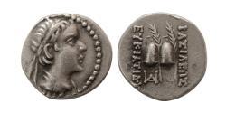 Ancient Coins - KINGS of BAKTRIA, Eukratides I. Circa 170-145 BC. AR Obol.