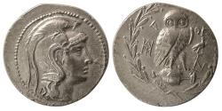 Ancient Coins - ATTICA, Athens. Ca. 141-140 BC. AR Tetradrachm. New Style Coinage.