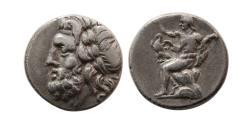 Ancient Coins - ARKADIA, Arkadian League. Circa 175-168 BC. AR Triobol.