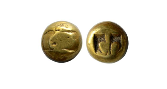World Coins - INDONASIA. Majapahit. 1293-1520 AD. Gold Unit