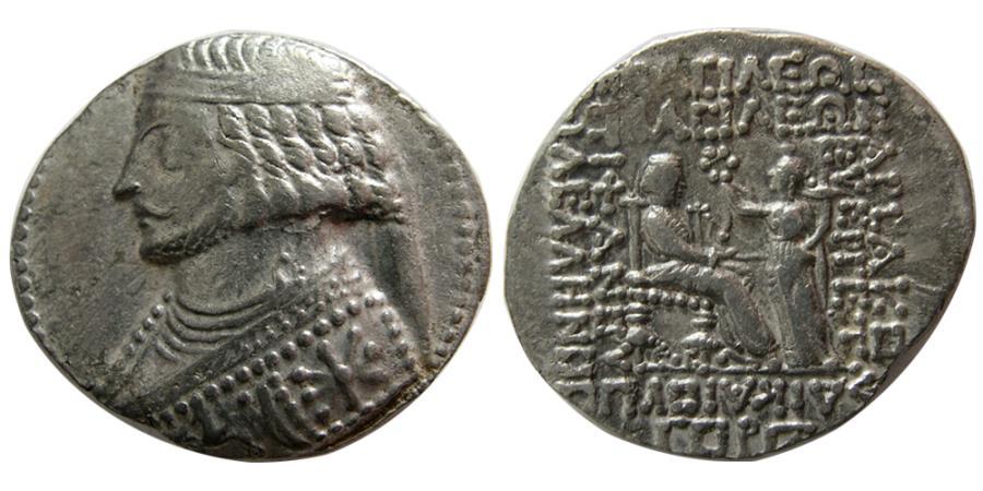 Ancient Coins - KINGS of PARTHIA. Phraates IV. 38-2 BC. AR Tetradrachm. Seleukeia on the Tigris mint. Dated 275 SE (37 BC).