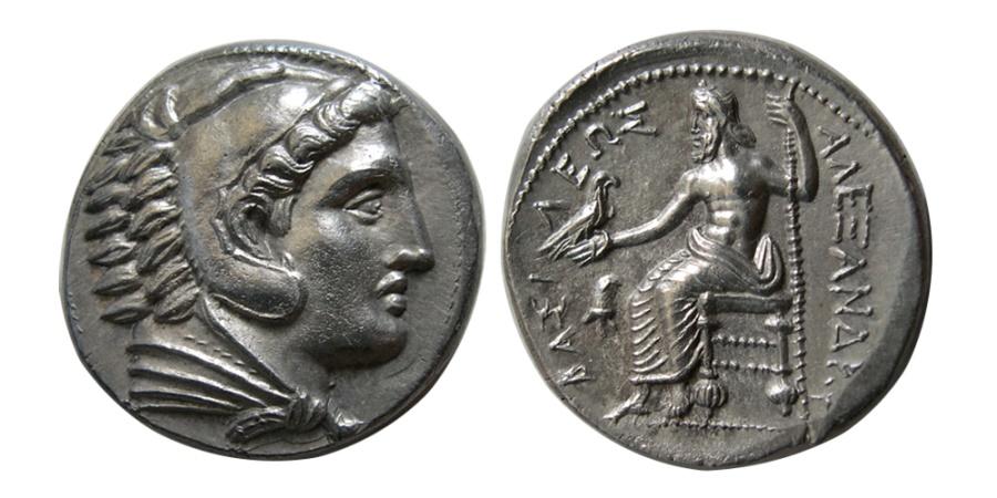 Ancient Coins - KINGS of MACEDON. Alexander III. 336-323 BC. AR Tetradrachm. Amphipolis. Choice FDC.