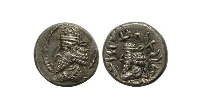 Ancient Coins - KINGS of PERSIS. Kapat (Napad). Circa 1st century BC. AR Hemidrachm. Scarce !