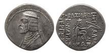 Ancient Coins - PARTHIAN EMPIRE. Arsakes XVI. 78/7-62/1 BC. AR Drachm.