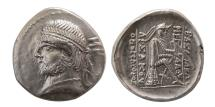 Ancient Coins - PARTHIAN EMPIRE. Phraates II. 132-127 BC. AR Drachm. Extremely Rare.