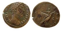 Ancient Coins - ROMAN EMPIRE. Marcus Aurelius. 161-180 AD. Æ Sestertius. Rare.