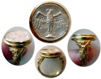 PONTOS, Amisos. Late 5th-4th century BC. AR Siglos. Set in a Custom-made 18K. Gold Ring. Ring Size 11.5