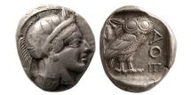 Ancient Coins - ATTICA, Athens. 440-404 BC. AR Tetradrachm. Full crest. Lovely strike.