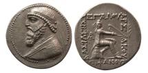 KINGS OF PARTHIA. Mithradates II. 121-91 BC. AR Tetradrachm. Rare.  From David Sellwood Collection.