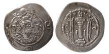 Ancient Coins - SASANIAN KINGS. Kavad I. Second Reign. 499-531 AD. AR Drachm. GI mint, year 13.