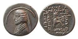 Ancient Coins - KINGS OF PARTHIA. Phraates III. 70/69-58/7 BC. AR Drachm. Court mint at Mithradatkart.