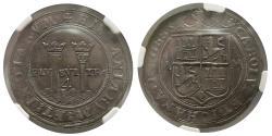 World Coins - SPANISH COLONIAL, Mexico. Carlos & Joanna. 1542-1555. AR 4 Reales. NGC-AU55. Lovely strike.