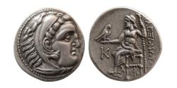 "Ancient Coins - KINGS of MACEDON, Alexander III. 336-323 BC. Silver Drachm. Early posthumous issue, ""Kolophon""."