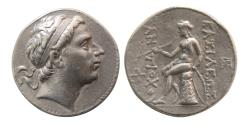 Ancient Coins - SELEUCID KINGS; Antiochus III. 223-187 BC. AR Tetradrachm. Seleukeia on the Tigris mint. Fine Style