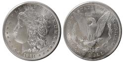 World Coins - UNITED STATES. 1881. Morgan Dollar. Choice UNC.