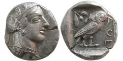 Ancient Coins - ATTICA, Athens. 440-404 BC. AR Tetradrachm. Great Style. Fully Lustrous.