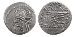 Ancient Coins - KINGS OF PARTHIA. Vologases VI. AD. 207/8-221/2. AR Drachm. Scarce !