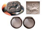 Ancient Coins - BYZANTINE EMPIRE. Ca. 8th.-10th. Century AD. Bronze Seal Ring.