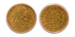 Ancient Coins - SPAIN. Carlos III. 1759-1788. Gold 1 Escudo. 1781-O-M, PJ. Madrid. ANACS-AU 50.