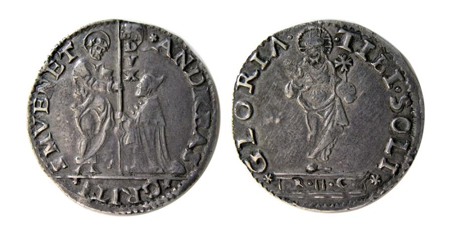 World Coins - ITALY, Venice. Andrea Gritti. 1523-1539 AD. AR Lira (Mocenigo).
