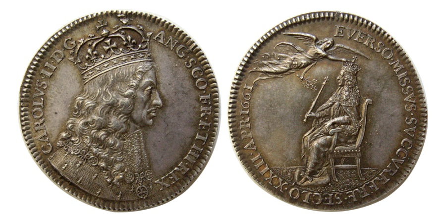 World Coins - BRITISH HISTORICAL MEDALS. Charles II. 1660-1685. Silver Medal.