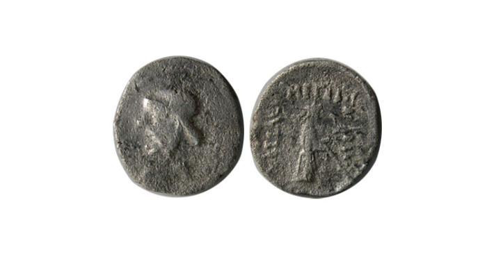 Ancient Coins - PARTHIAN EMPIRE. Mithradates I. 164-132 BC. AR Obol. Very rare.
