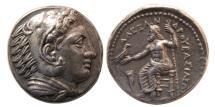 Ancient Coins - KINGS of MACEDON, Alexander III. 336-323 BC. AR Tetradrachm. Amphipolis mint. Lifetime issue.
