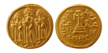 BYZANTINE EMPIRE. Heraclius and colleagues, 610-641 AD. AV Solidus.
