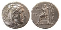Ancient Coins - CARIA, Mylasa (or Kaunos). Ca. Mid 3rd century BC. AR Tetradrachm. In the name and types of Alexander III of Macedon.