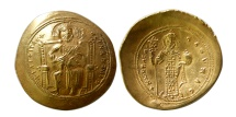 BYZANTINE EMPIRE. Constantine X Ducas. 1059-1067. Gold Histamenon nomisma. Lustrous.