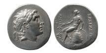 SELEUKID KINGS. Antiochos Hierax. 242-227 BC. AR Tetradrachm. Rare winged portrait!