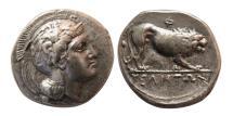 Ancient Coins - LUCANIA, Velia. Ca. 340-334 BC. Silver Didrachm.