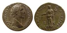 Ancient Coins - ROMAN EMPIRE. Antonius Pius. 138-161 AD. AE Sestertius.