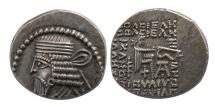 Ancient Coins - KINGS of PARTHIA. Vologases I. second reign, ca. AD 58-77. AR Drachm.