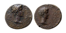 Ancient Coins - THRACIAN KINGDOM. Rhoemetalces I, with Augustus. Ca. 11 BC-AD 12. Æ.