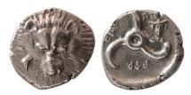 Ancient Coins - DYNASTS OF LYCIA, Perikles, Circa 380-360 BC. AR 1/3 Stater. Hermes.  Rare Variety.