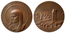 Ancient Coins - ITALY. Octavian/Augustus. 1937. Æ Medal. Commemorating the 2000th Anniversary of His Birth.