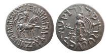 Ancient Coins - INDO-SCYTHIAN KINGS, Azes. Circa 58-20/19 BC. AR Tetradrachm. Lovely strike.