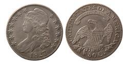 World Coins - UNITED STATES. 1827. Half Dollar. Classic Head. R.3.