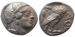 Ancient Coins - ATTICA, Athens. 440-404 BC. AR Tetradrachm. Choice FDC. Fully lustrous.