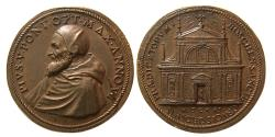 World Coins - ITALY, The Papacy. Pius V (Antonio Ghislieri). 1566-1572 AD. Æ Medal.