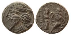 Ancient Coins - KINGS of PARTHIA. Vologases V (AD 191-208). BI Tetradrachm. Seleucia on the Tigris, year 512 SE .