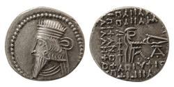 Ancient Coins - KINGS of PARTHIA. Pacorus I (AD 78-120). AR Drachm. Ecbatana mint.