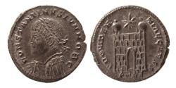 Ancient Coins - ROMAN EMPIRE. Constantine II. as Caesar. 317-337 AD. Æ Follis. Treveri (Trier) mint. Lovely strike.