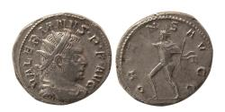 Ancient Coins - ROMAN EMPIRE. Valerian I. 253-260 AD. Silver Antoninianus. Cologne mint. Lovely strike.
