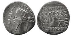 Ancient Coins - KINGS of PARTHIA. Vonones I. 8-12 AD. AR Drachm. Ekbatana mint.