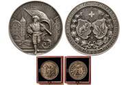 World Coins - SWITZERLAND. 1893. Shooting Festival Medal. Silver Medallion.