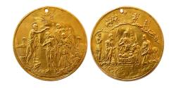 World Coins - RUSSIA. Ca. 19th Century. Baptismal Gold Medal.